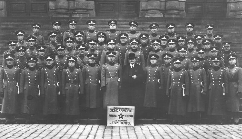 Esperanto-Kurs für tschechoslowakische Gendarmen, Prag 1936