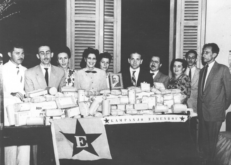 """Spendensammlung der """"Kampanjo Zamenhof"""", Rio de Janeiro 1949"""