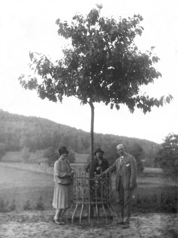 Familie Hamann unter der Esperanto-Eiche, Zoppot 1927