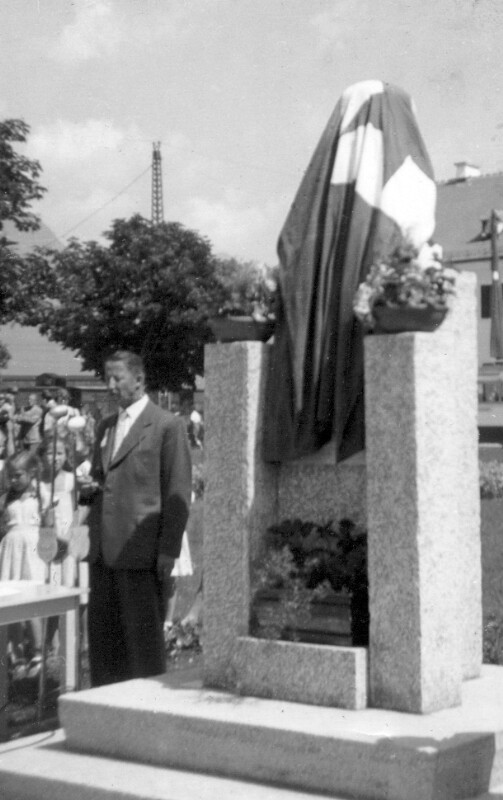 Einweihung des Zamenhof-Denkmals, Wörgl 1952