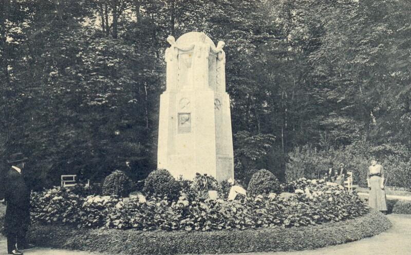 Ansichtskarte: Esperanto-Denkmal, Franzensbad 1914