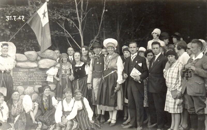 Enthüllung des Esperanto-Gedenksteins, Zoppot 1927