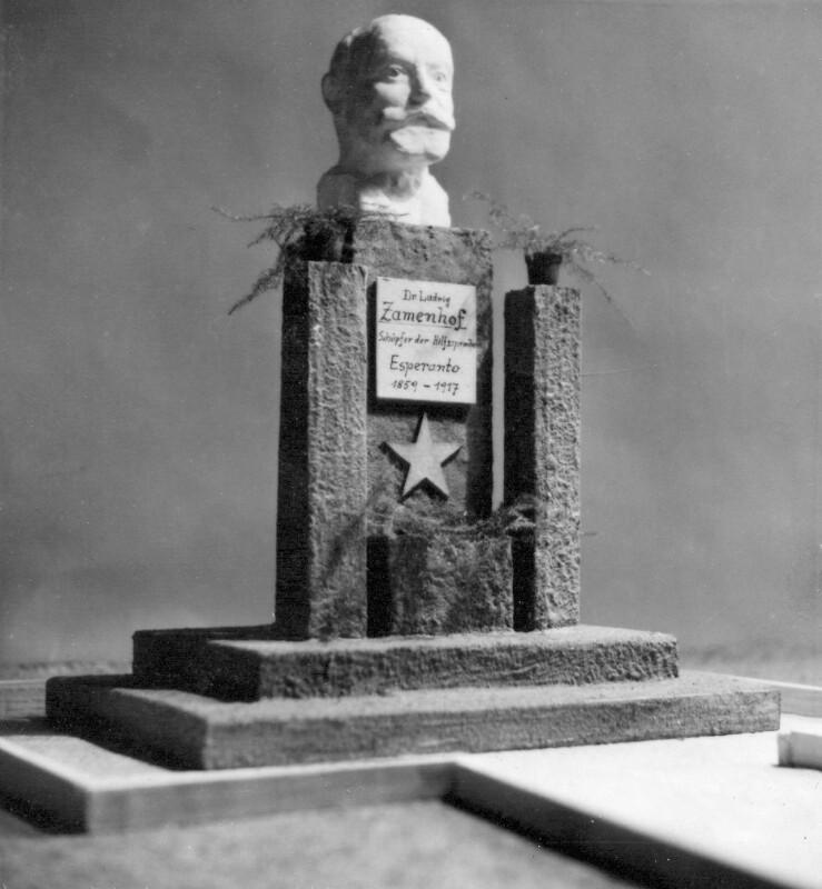 Modell für das Zamenhof-Denkmal in Wörgl, um 1950