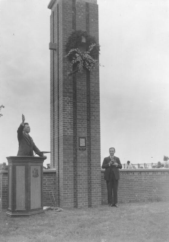 Einweihung des Esperanto-Denkmals in Den Burg, 1935