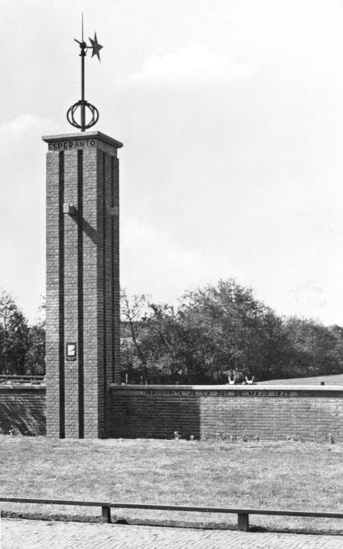 Esperanto-Denkmal in Den Burg, 1935