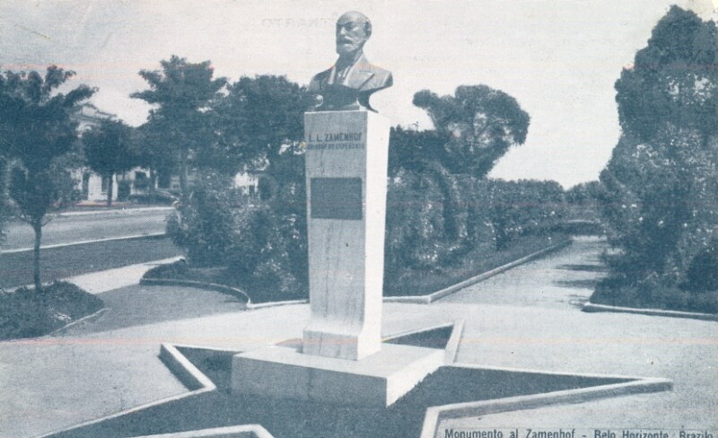 Ansichtskarte: Monumento al Zamenhof, Belo Horizonte, Brazilo