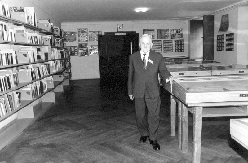 Hugo Steiner im Internationalen Esperanto-Museum, Wien 1965