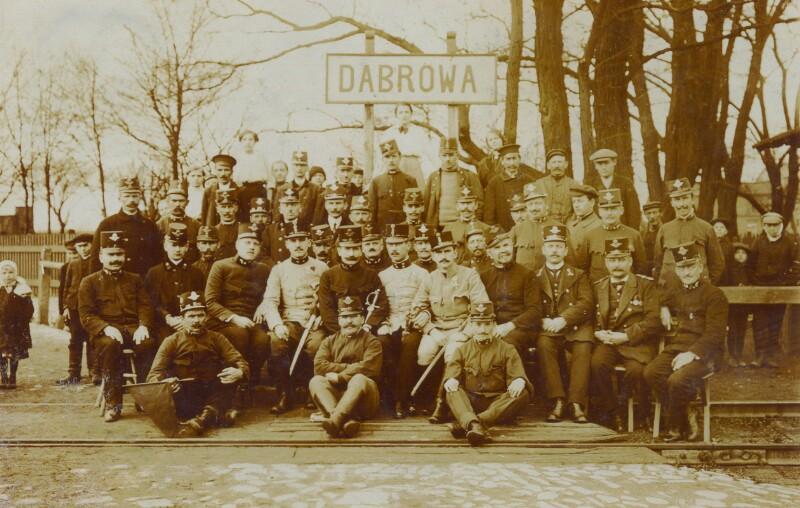 Hugo Steiner im Ersten Weltkrieg als Bahnbeamter in Dombrowa (= Dabrowa), um 1915