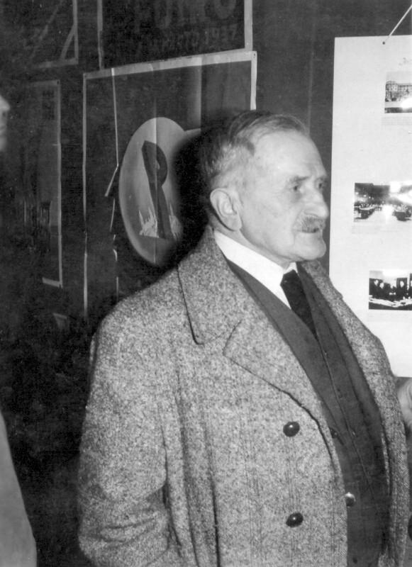 Hugo Steiner bei der Europäischen Esperanto-Konferenz, Strasbourg 1956