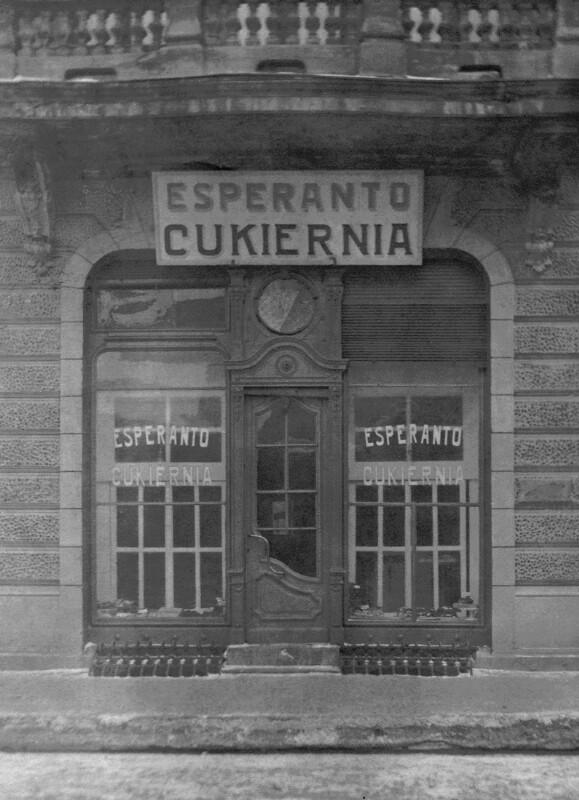 Esperanto-Konditorei, Łódź um 1930