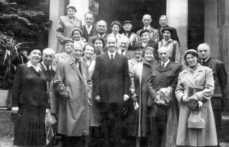 Esperantisten zu Besuch bei Otto von Habsburg, Pöcking 1956