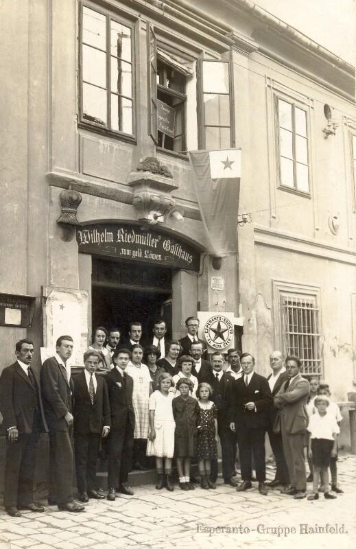"Esperanto-Gruppe ""Al Alta Celo"", Hainfeld 1926"