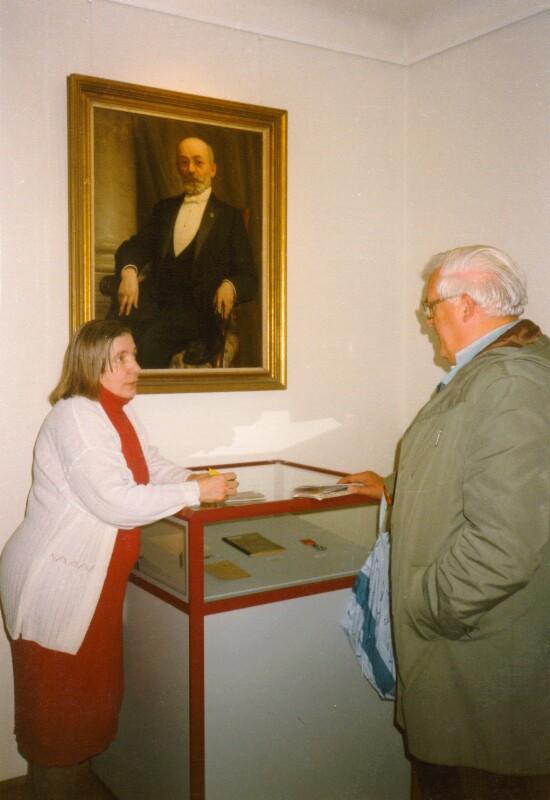 Anton Kronshage im Internationalen Esperanto-Museum, Wien 1996