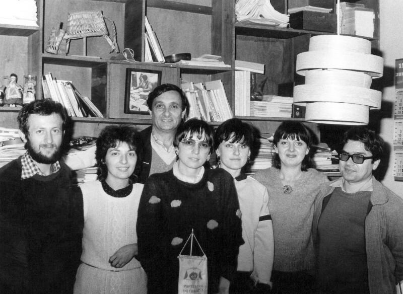"""Die Mitarbeiter des """"Internacia Kultura Servo"""", Zagreb 1982"""