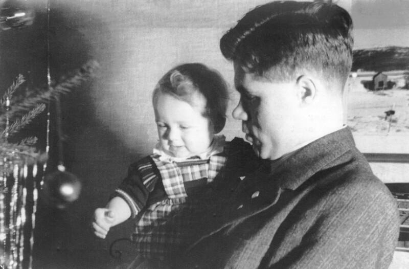 Jan Strönne mit Sohn, Kalmar 1943