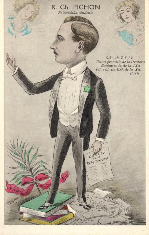 Ansichtskarte: Karikatur Charles Pichon