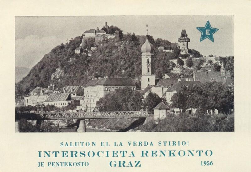 Ansichtskarte: Intersocieta Renkonto, Graz 1956