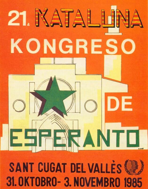 Ansichtskarte: 21a Kataluna Kongreso de Esperanto, Sant Cugat de Vallès 31. oktobro - 3. novembro 1985