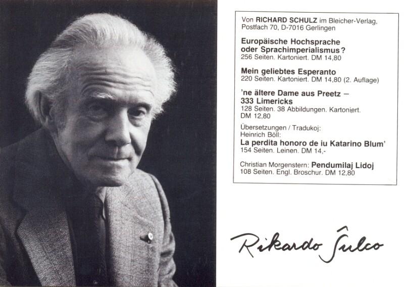 Ansichtskarte: Rikardo Ŝulco