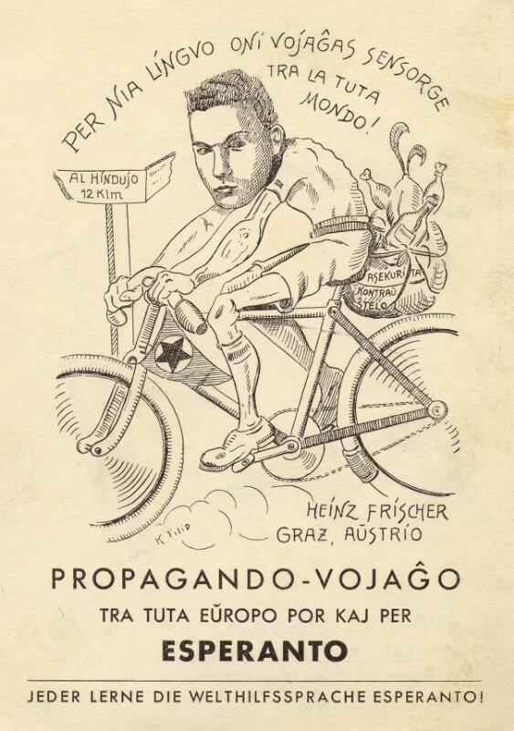 Ansichtskarte: Propagando-vojaĝo tra tuta Eŭropo por kaj per Esperanto
