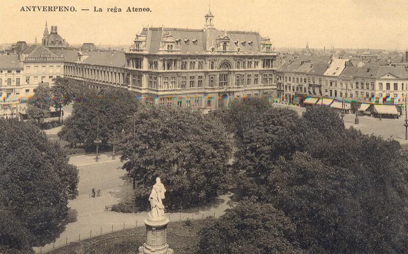 Ansichtskarte: Antverpeno - La Reĝa Ateneo