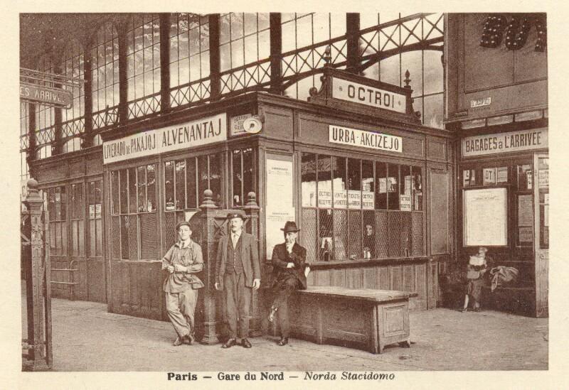 Ansichtskarte: Paris - Gare du Nord - Norda Stacidomo