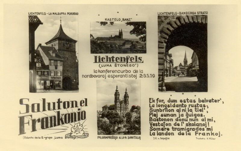 Ansichtskarte: Saluton el Frankonio ...
