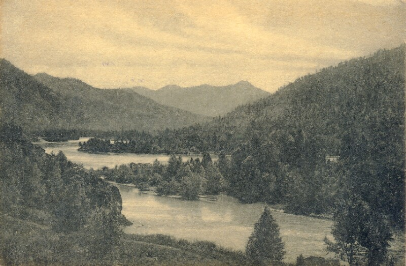 Ansichtskarte: Altaj, rivero Katunj