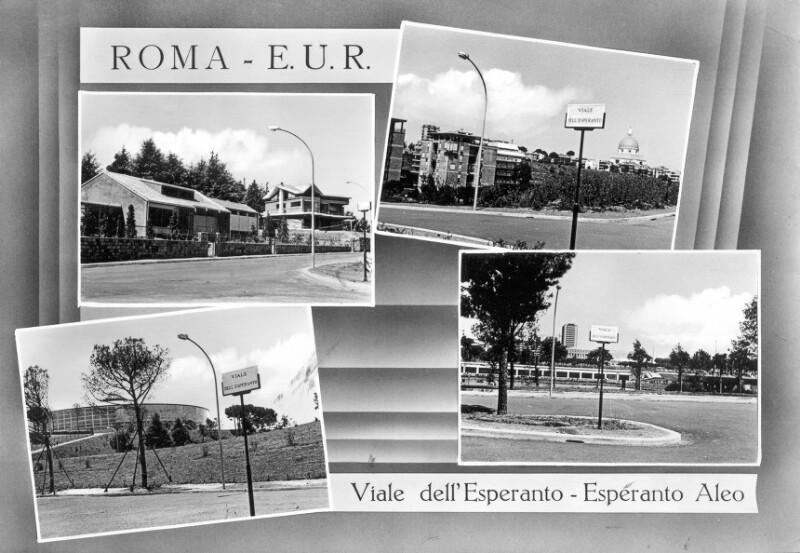 Ansichtskarte: Roma, Viale dell' Esperanto - Esperanto-Aleo