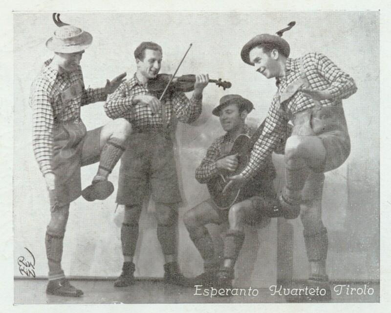 Ansichtskarte: Esperanto-Kvarteto Tirolo