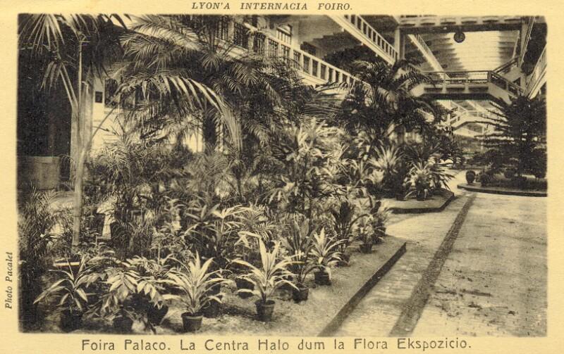 Ansichtskarte: Foiro Internacia de Lyon, Foira Palaco