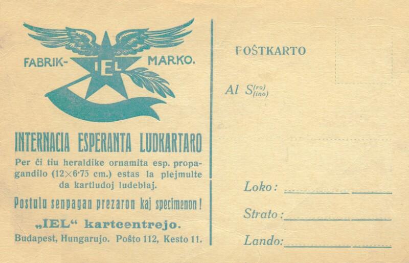Postkarte: Internacia Esperanta ludkartaro