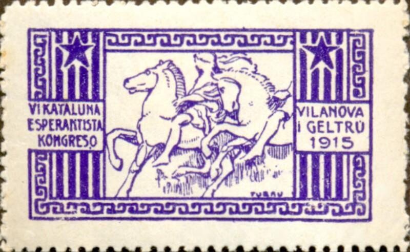 Verschlussmarke: VI. Kataluna Esperantista Kongreso, Vilanova i Geltrú 1915