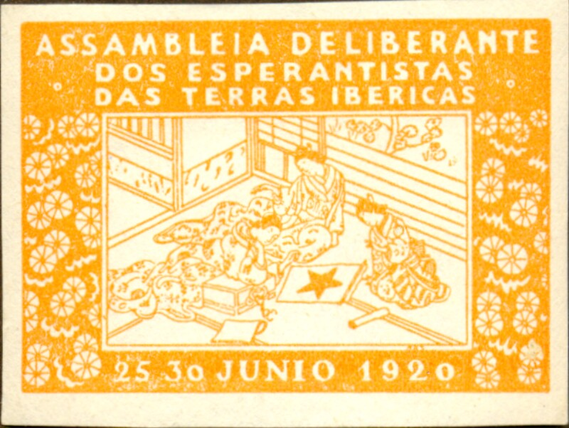 Verschlussmarke: Assambleia Deliberante dos Esperantistas das Terras Ibericas 1920