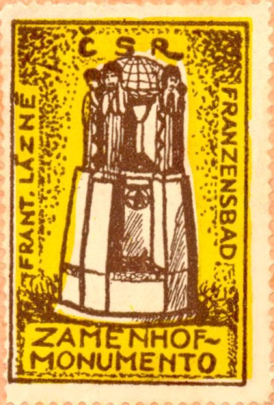 Verschlussmarke: Frant. Lázně, Zamenhof-monumento