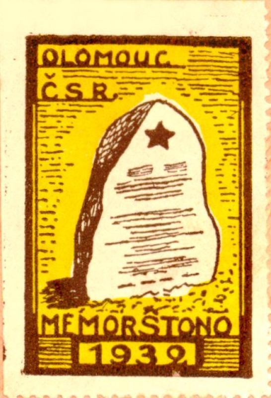 Verschlussmarke: Olomouc, ČSR, memorŝtono 1932