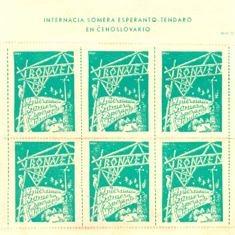Markenbogen: Internacia Somera Esperanto-Tendaro en Ĉeĥoslovakio
