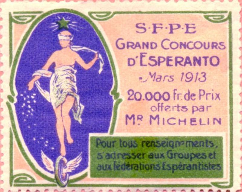 Verschlussmarke: S.F.P.E. Grand Concours d' Esperanto 1913