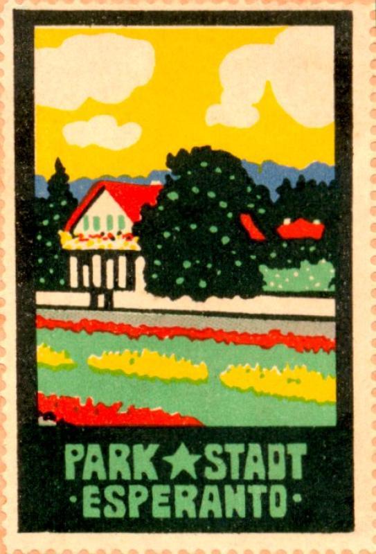Verschlussmarke: Park-Stadt Esperanto