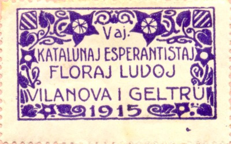 Verschlussmarke: Vaj Katalunaj Floraj Ludoj, Vilanova i Geltrú 1915