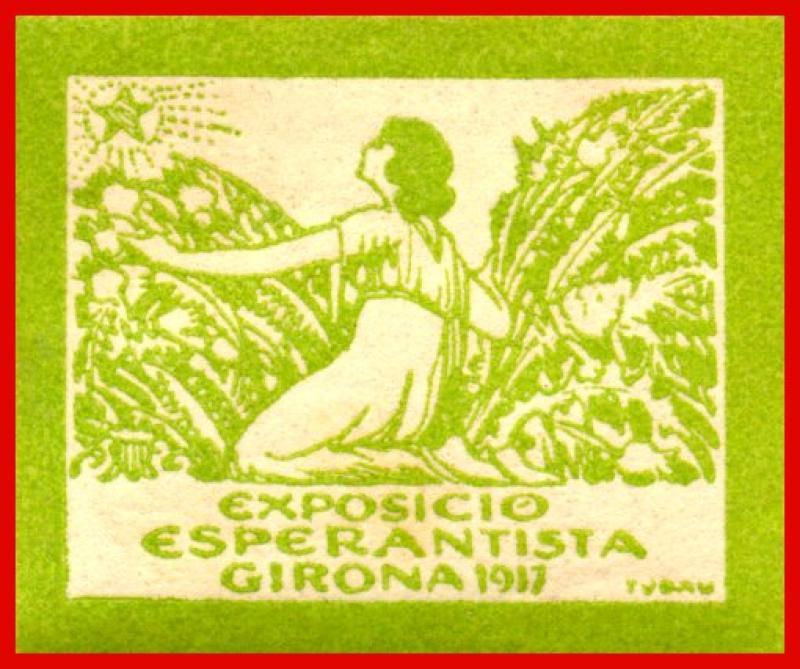 Verschlussmarke: Exposicio Esperantista, Girona 1917