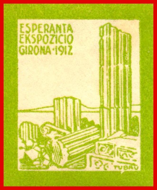 Verschlussmarke: Esperanta Ekspozicio, Girona 1917