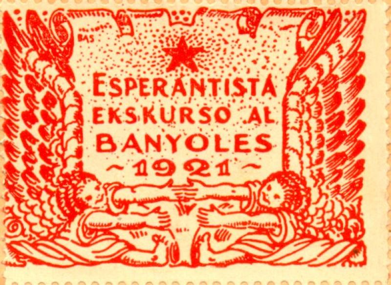 Verschlussmarke: Esperantista ekskurso al Banyoles, 1921