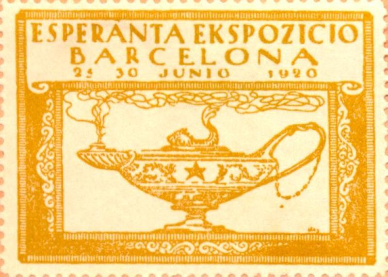 Verschlussmarke: Esperanta Ekspozicio, Barcelona 1920