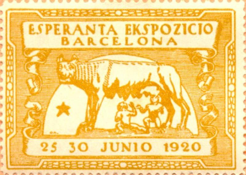 Verschlussmarke: Esperanta ekspozicio, Barecelona 1920