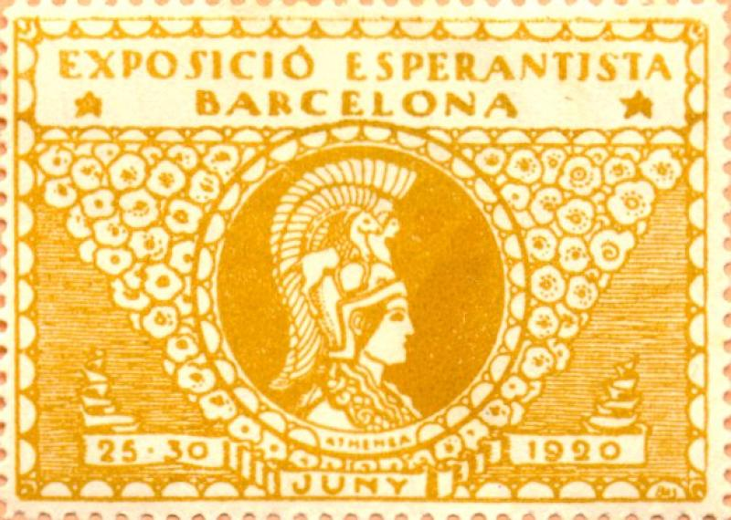 Verschlussmarke: Exposició Esperantista, Barcelona 1920
