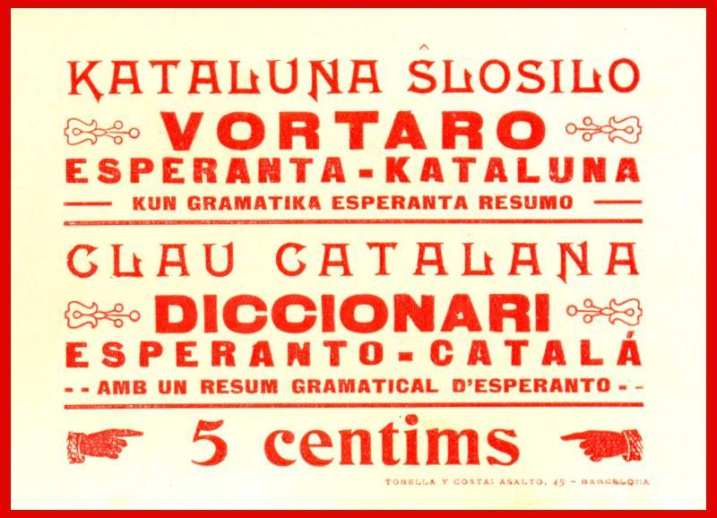 Aufkleber: Kataluna ŝlosilo, vortaro Esperanta-kataluna