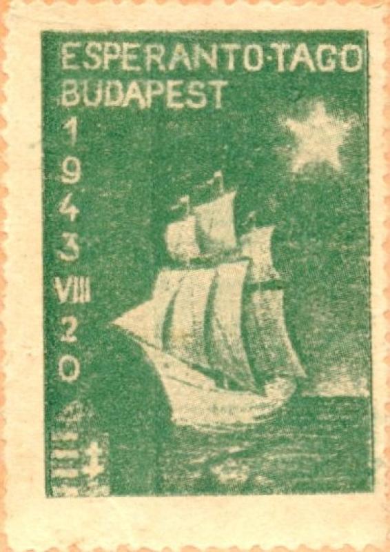 Verschlussmarke: Esperantotago, Budapest 1943
