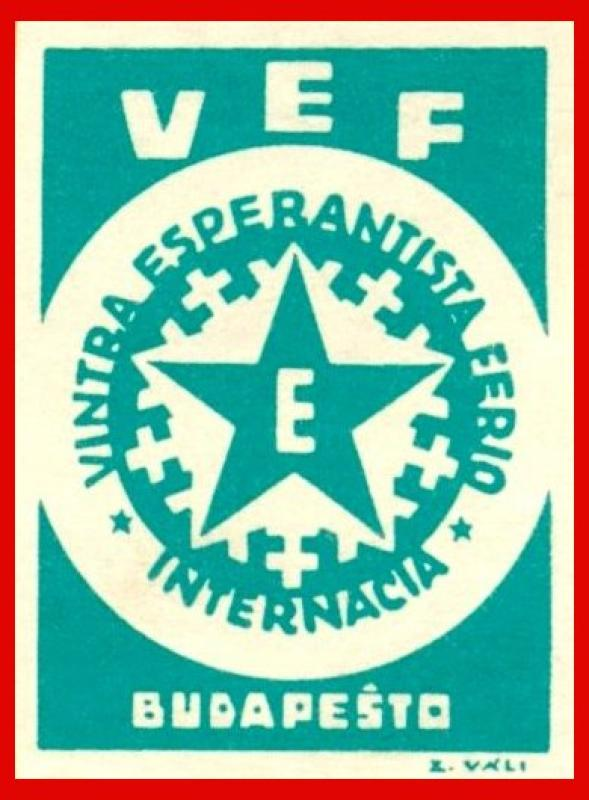 Verschlussmarke: Vintra Esperantista Ferio Internacia, Budapeŝto