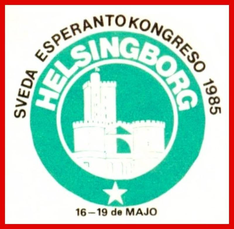 Aufkleber: Sveda Esperantokongreso, Helsingborg 1985